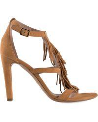Chloé 'Daniella' Fringe Sandals - Lyst
