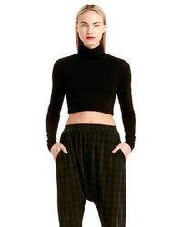 Torn By Ronny Kobo Sulan Crop Turtleneck Top - Lyst