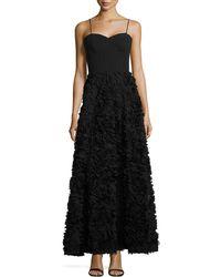 Aidan By Aidan Mattox Sleeveless Rosette Ball Gown - Lyst