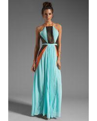 Suboo Pleated Maxi Dress in Mint - Lyst