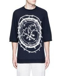 3.1 Phillip Lim | Stamp Embroidery Wool-yak-cashmere Sweater | Lyst