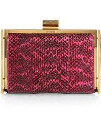 Nina Ricci Watersnake Book Clutch - Lyst
