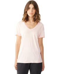 Alternative Apparel Perfect V-Neck T-Shirt - Lyst