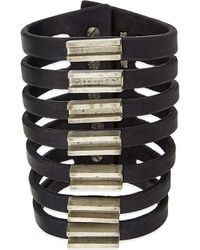 Rick Owens - Leather Cuff With Bars - Lyst