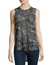 F.t.b By Fade To Blue - Knit Racerback White Noise Tank - Lyst