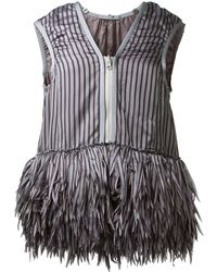 Sacai Striped and Fringes Top - Lyst