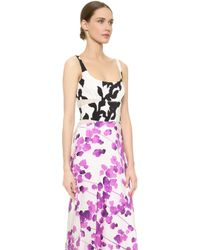 Narciso Rodriguez Watercolor Floral Dress - Multi - Lyst