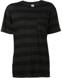 Nsf Clothing Black Striped T-shirt - Lyst