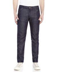 G-Star RAW Dark Wash Bike 3D Low Tapered Jeans - Lyst