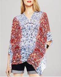 Two By Vince Camuto - Vince Camuto Moroccan Paisley Poncho Top - Lyst