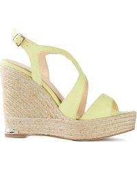 Paloma Barceló Strappy Wedge Sandals - Lyst