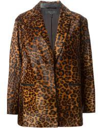 Rag & Bone Leopard Print Blazer - Lyst