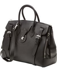 Ralph Lauren Collection Soft Ricky Zippy Leather Tote - Lyst