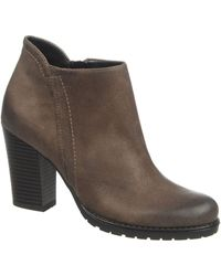 Franco Sarto Picnic Leather Ankle Boots - Lyst