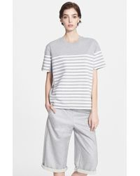 T By Alexander Wang Stripe Cotton Jersey Tee - Lyst