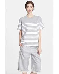 T By Alexander Wang Stripe Cotton Jersey Tee - Lyst