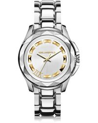 Karl Lagerfeld Karl 7 43.5 Mm Stainless Steel Unisex Watch - Lyst