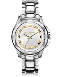 Karl Lagerfeld Karl 7 43.5 Mm Stainless Steel Unisex Watch gray - Lyst