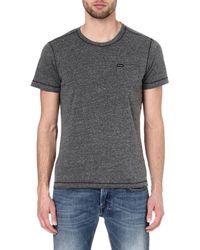 Diesel Black Henley T-shirt - Lyst