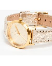 Nixon The Kenzi Leather Gold Shimmer - Lyst
