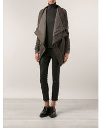 DRKSHDW by Rick Owens Draped Jacket - Lyst