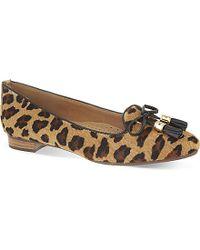Carvela Kurt Geiger Cat Leopard-Print Flats - For Women - Lyst