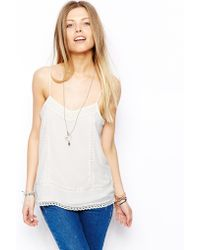 Asos Cami Top with Crochet Panels - Lyst