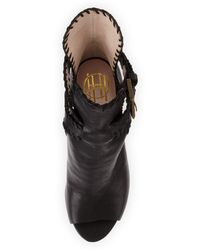 House of Harlow 1960 - Minnie Whipstitch Cutout Bootie  - Lyst