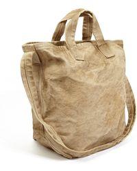 Comme Des Garçons Mens Sand Agedeffect Canvas Shopper Bag - Lyst