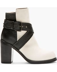 6240dc90977b McQ - Black and Ivory Nazrul Ankle Boot - Lyst