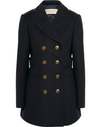 Burberry Brit - Double-Breasted Wool-Blend Twill Peacoat - Lyst