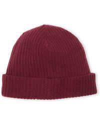 Portolano Cashmere Ribbed Knit Beanie - Lyst