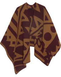 Burberry Prorsum - Wool and Cashmere Blend Wrap - Lyst