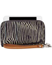Fossil Sydney Zip Phone Wallet white - Lyst