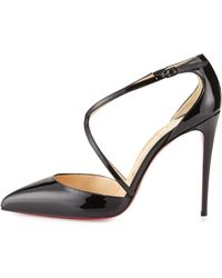 replica louis vuitton shoes - Christian louboutin Pigalle Plato Leather Red Sole Pump in Black ...