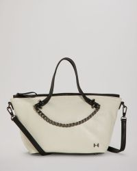 Guess Guess Handbag Kory Small Box Satchel In White Stone