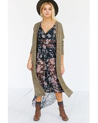 Silence + Noise - Silence + Noise Open-Front Maxi Cardigan - Lyst
