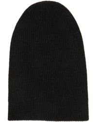 Helmut Lang Helmut Lang Lux Jersey Charcoal Beanie - Lyst