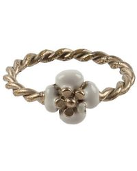 Chanel Pre-Owned Rope Twist Camelia Ring - Lyst