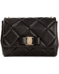 Ferragamo Miss Vara Quilted Shoulder Bag - Lyst