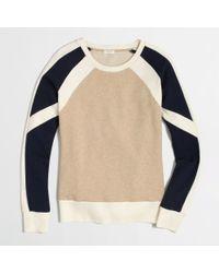 J.Crew Factory Colorblock Sweatshirt - Lyst