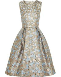 Mary Katrantzou Jq Astere Metallic Jacquard Dress - Lyst