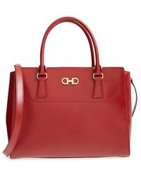 Ferragamo | 'large Beky' Saffiano Leather Tote | Lyst