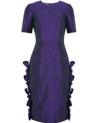 House Of Holland Polly Silk-shantung Dress - Lyst
