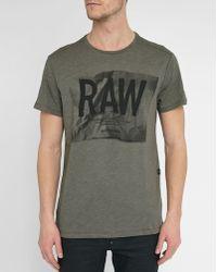 G-Star RAW | Grey Raw Lenk 3 Print Round-neck T-shirt | Lyst