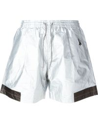Haus By Golden Goose Deluxe Brand | Metallic (grey) Drawstring Shorts | Lyst