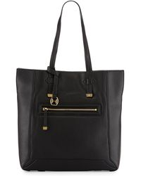 Halston Leather North/South Tote Bag - Lyst