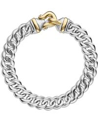 David Yurman Buckle Singlerow Bracelet with Gold - Lyst