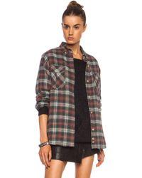 Etoile Isabel Marant Vadisse Check Cottonblend Shirt - Lyst