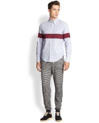 Band Of Outsiders Plaid Striped Solid Sportshirt - Lyst